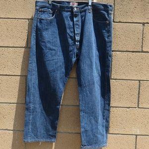 Levis 501Jeans Mens Blue 44X30